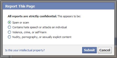 Facebook-spam-raporlama