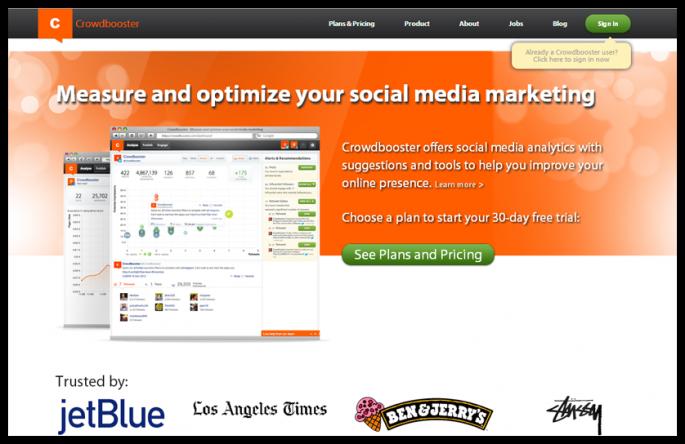 CrowdBooster - en iyi sosyal medya araçları