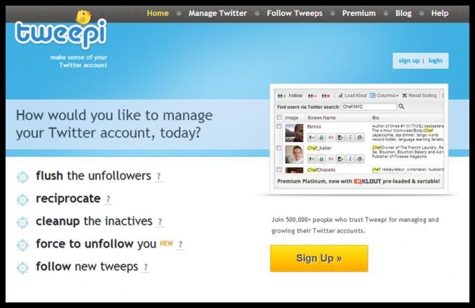 Tweepi sosyal medya araçları